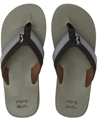 Billabong All Day Impact Flip Flops - Dark Military