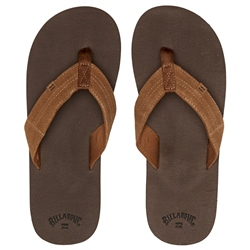 Billabong Seaway Suede Flip Flops - Chocolate