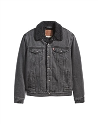 Levi's Sherpa Type 3 Jacket - Embossed Logo Black