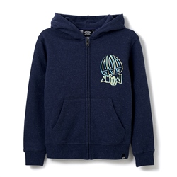 Animal Captive Zipped Hoody - Indigo Blue Marl