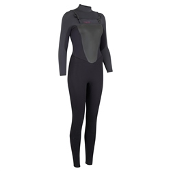 Animal Womens Lava 4/3mm Wetsuit - Black (2020)