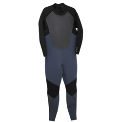 Animal Lava 4/3mm Back Zip Wetsuit - Grey & Red (2020)