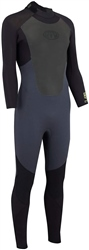 Animal Lava Back Zip 4/3mm Wetsuit - Grey (2020)