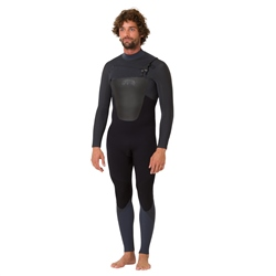 Animal Mens Lava 4/3mm Wetsuit - Black (2020)