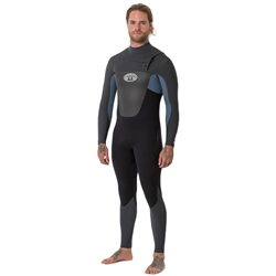 Animal Lava Chest Zip 5/4mm Wetsuit - Blue (2018)
