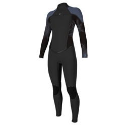 O'Neill Psycho 1 Back Zip 3/2mm Wetsuit - Black & Habour Mist (2019)