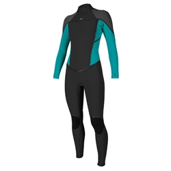 O'Neill Psycho 1 Back Zip 4mm Wetsuit - Black & Capri Blue
