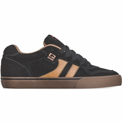 Globe Encore 2 Shoes - Black & Brown Suede
