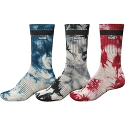 Globe All Tied Up 3 Pack Socks - Assorted