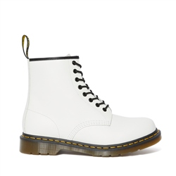 Dr Martens 1460 Smooth Leather Ankle Boots - White Smooth