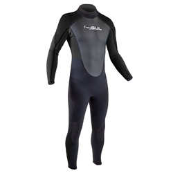Gul Response Flatlock 3/2mm Back Zip Wetsuit (2020) - Black