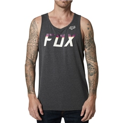 Fox On Deck Tech Tank Top - Heather Black