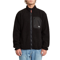 Volcom Muzzer Fuzzar Zipped Fleece - Black