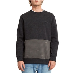 Volcom Forzee Crew Sweatshirt - Heather Black