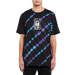 Volcom Agreedment T-Shirt - Black, Blue & Purple