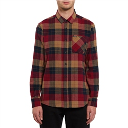Volcom Caden Plaid Shirt - Rio Red