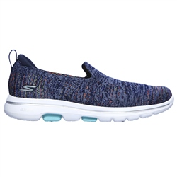 Skechers Go Walk 5 Mirage Shoes - Navy