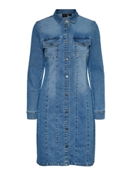 Vero Moda Aviis Dress - Medium Blue Denim