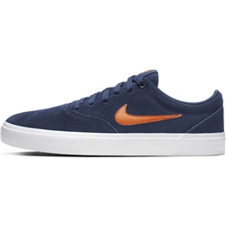 Nike SB Charge Suede Shoes - Navy & White