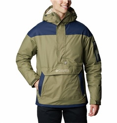 Columbia Challenger Pullover Jacket - Stone Green & Collegiate Navy