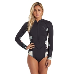 Billabong Womens Salty Dayz Spring Suit - Black Pebble