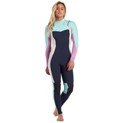 Billabong Synergy 5/4mm Chest Zip Wetsuit - Navy