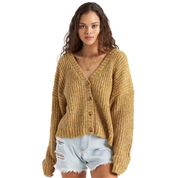 Billabong Sure Thang Cardigan - Antique Gold