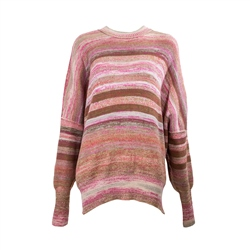 Free People Easy Street Space Dye Jumper - Sand & Sugar Combo
