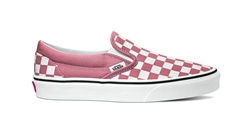 Vans Classic Checkerboard Slip Ons - Rose Dawn & True White