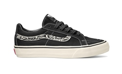 Vans Sk8 Low Reissue Snake Shoes - Black