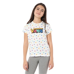 Vans Colorful Heart T-Shirt - White
