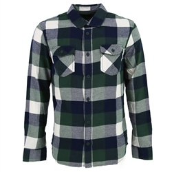 Vans Box Flannel Shirt - Pine Needle & Blue