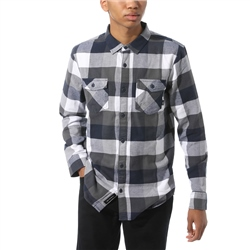 Vans Box Flannel Shirt - White & Dress Blues
