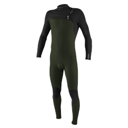 O'Neill Hyperfreak 4/3mm Chest Zip Wetsuit - Ghost Green & Black (2021)
