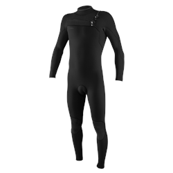 O'Neill Hyperfreak 5/4mm Chest Zip Wetsuit - Black & Black (2021)