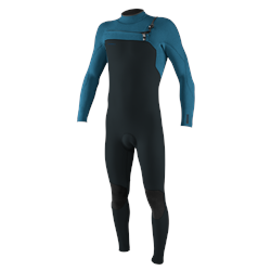 O'Neill Hyperfreak 5/4mm Chest Zip Wetsuit - Gun Metal & Ultra Blue (2021)