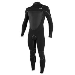 O'Neill Psycho Tech 5/4mm Chest Zip Wetsuit - Black & Black