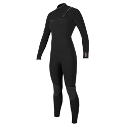 O'Neill Hyperfreak Chest Zip 5/4mm Wetsuit - Black & Black