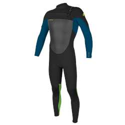 O'Neill Epic 5/4mm Chest Zip Wetsuit - Black, Ultra Elue & DayGlo (2021)