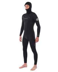Rip Curl Dawn Patrol Hooded 5/4mm Wetsuit - Black