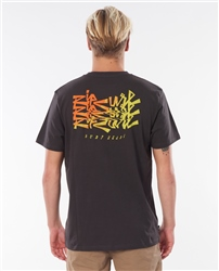 Rip Curl Surf Heads T-Shirt - Washed Black
