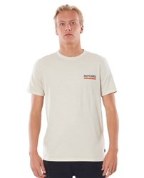 Rip Curl Surf Revival Strip T-Shirt - Bone