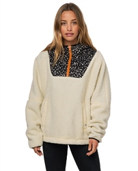 Rip Curl Never Cold Hooded Fleece - Off White