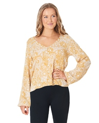 Rip Curl Golden Days Floral Top - Yellow