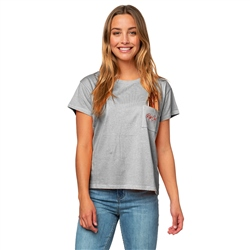 Rip Curl Surfboard Pocket T-Shirt - Cement Marle