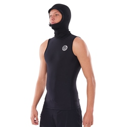 Rip Curl Flash Bomb Neoprene Hooded Thermal Rash Vest - Black