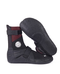 Rip Curl Flash Bomb Wetsuit Boots 5mm - Black - Round Toe
