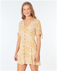 Rip Curl Golden Days Floral Dress - Yellow