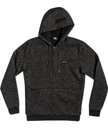 Quiksilver Keller Fur Zipped Hoody - Dark Grey Heather