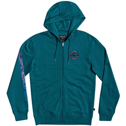 Quiksilver Time Circle Zipped Hoody - Blue Coral